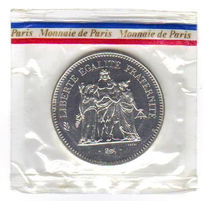 monnaie de paris 50 franc argent