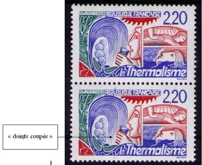 2556b - 2 - Philatélie 50 - timbre de France avec variété N° 2556b - timbre de France de collection