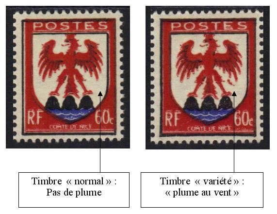758-2 6 - Philatelie - timbre de France de collection avec variété