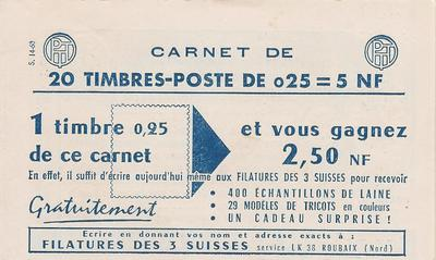 Carnet1263 - Philatelie - Timbre de France n °YT 1263 carnet d'usage courant - Timbres de collection