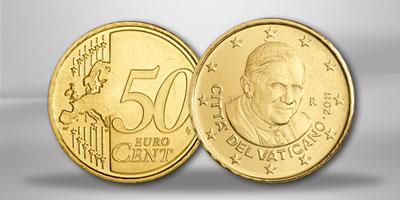 pi ce 50 centimes vatican 2011 zoom pi ces euros vatican. Black Bedroom Furniture Sets. Home Design Ideas