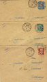 Lettres246-248 - Philatelie -lettres de France - timbres de France de collection