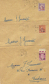 Lettres249-251 - Philatelie - lettres de France - timbres de France de collection