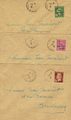 Lettres253-255 - Philatelie - lettres de France - timbres de France de collection