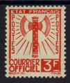 Service 10 - Philatelie - timbre de France Service - serie Francisque