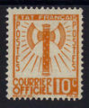 Service 1 - Philatelie - timbre de France Service - serie Francisque