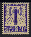 Service 2 - Philatelie - timbre de France Service - serie Francisque