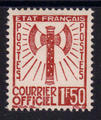 Service 8 - Philatelie - timbre de France Service - serie Francisque