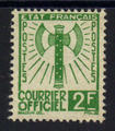 Service 9 - Philatelie - timbre de France Service - serie Francisque
