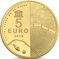 UNESCO 2016 5 € or - Philatelie - pièce Monnaie de Paris - série UNESCO - Les Rives de la Seine