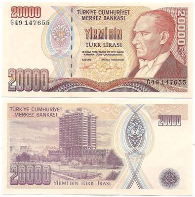 billet de banque turque 2015