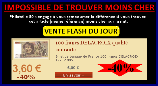 Vente flash billet 100 F Delacroix